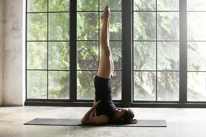Sarvangasana or Viparitkarani Mudra (Shoulder Standing Position)
